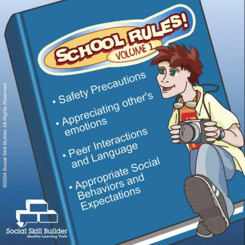 Social Skill Builder Special Needs School Rules Software, Volume 1, Ages 8 to 18 Years