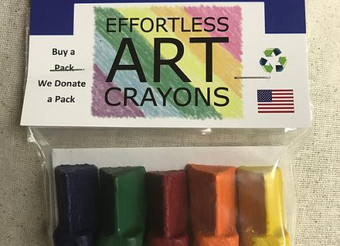 Effortless Art Crayons: 5 Pack