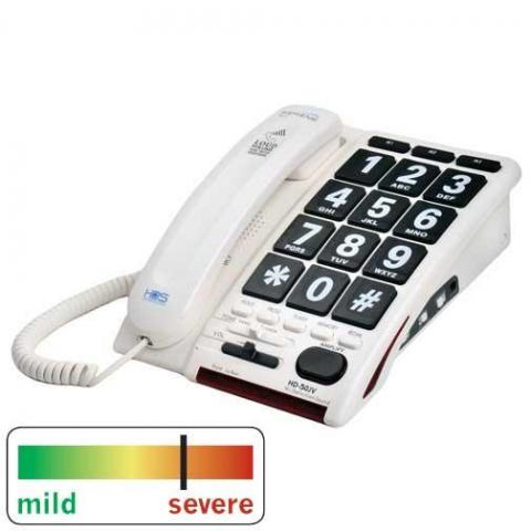 Jumbo Keyed Amplified Telephone With Voice Activated No-Touch Answering (Model Hd50Jv )