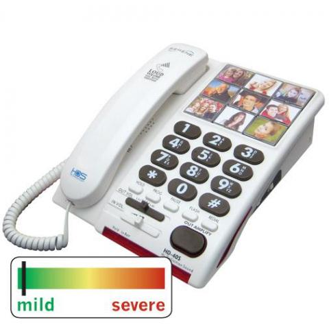 Outgoing Speech Amplified Telephone With Photo Memory Speed Dials (Model Hd40S)