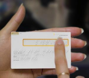 Braille Credit Card