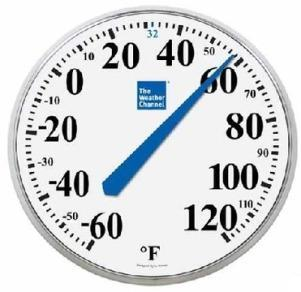 Large Print Outdoor Dial Thermometer