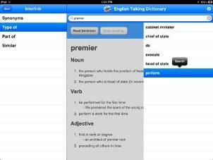 English Talking Dictionary For Ipad