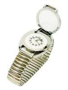 Brailled Silver Tone Watch