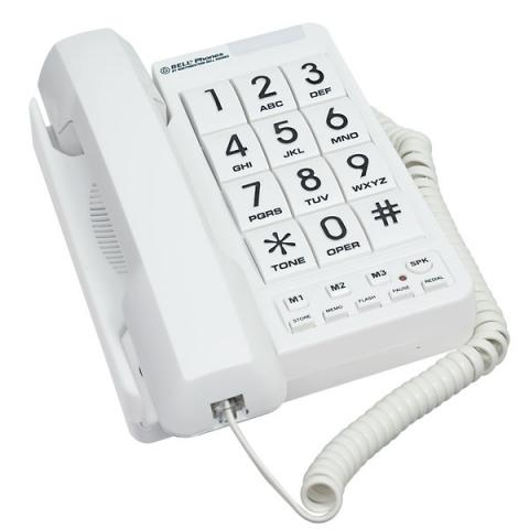 Corded Phone With Big Buttons And Speakerphone