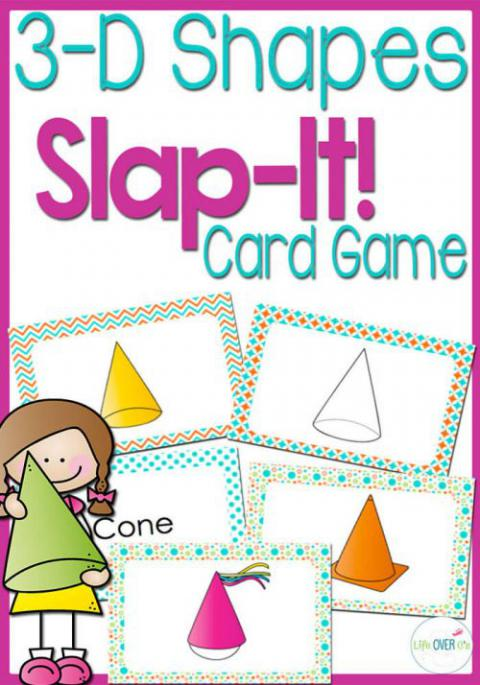 3D Solid Shapes Slap It Card Game