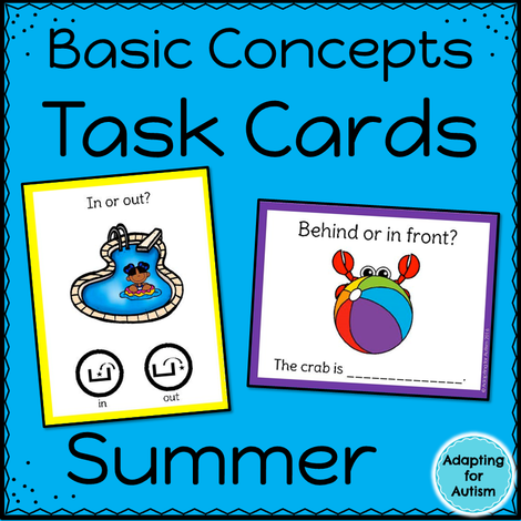 Summer Task Cards: Basic Concepts