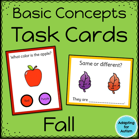 Fall Task Cards: Basic Concepts