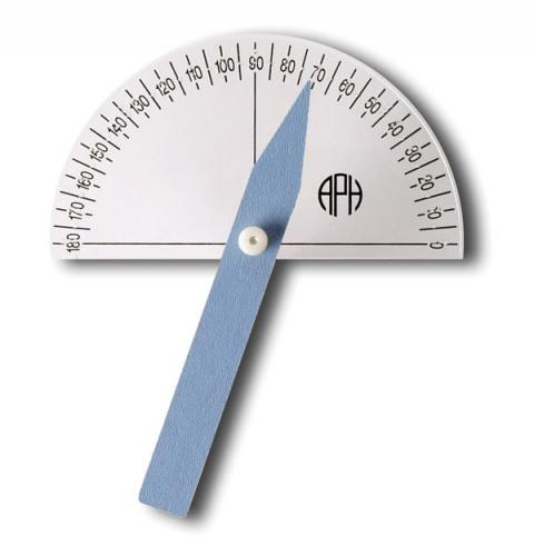 Braille-Large Print Protractor