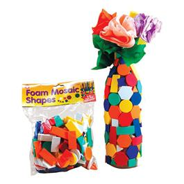 Foam Mosaic Shapes - 150 Pieces
