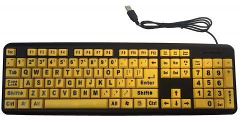 Large Print Keyboard USB Plug 4X Larger letters Keyboard