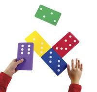 Learning Resources Jumbo Foam Dominoes, Assorted Colors, Set of 28