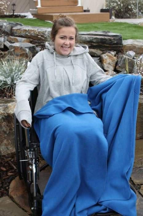 Wrap-About Wheelchair Blanket for Children & Adults