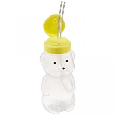 Special Needs Mr. Juice Bear Drinking Teaching Cup With 3 Straws