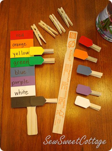 Paint chip color matching activity...