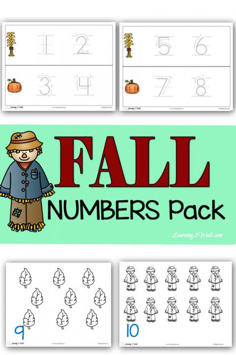 Fall Numbers Pack
