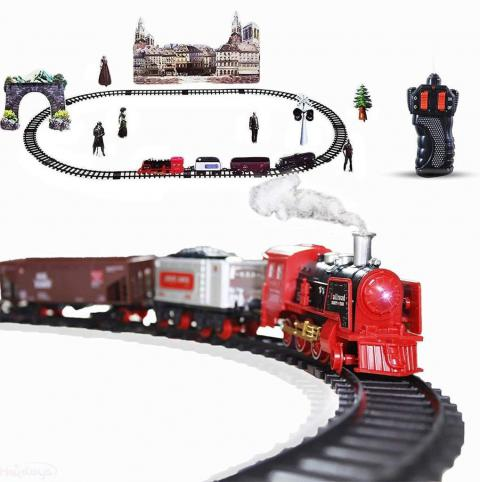 Radio Control Train Set with Real Smoke Switch Toy