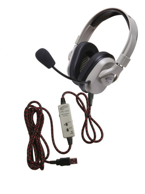 Califone HPK-1510 Titanium Series Washable Headphones with Guaranteed for Life USB Cord
